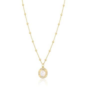 Lara Rainbow Moonstone Gemstone Necklace