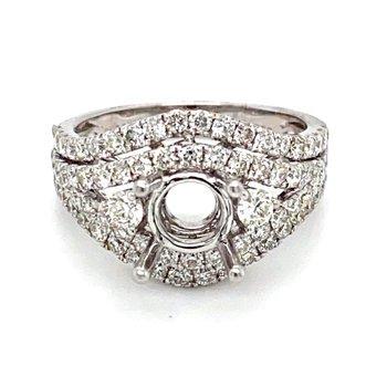 Diamond Split Band Engagement Ring