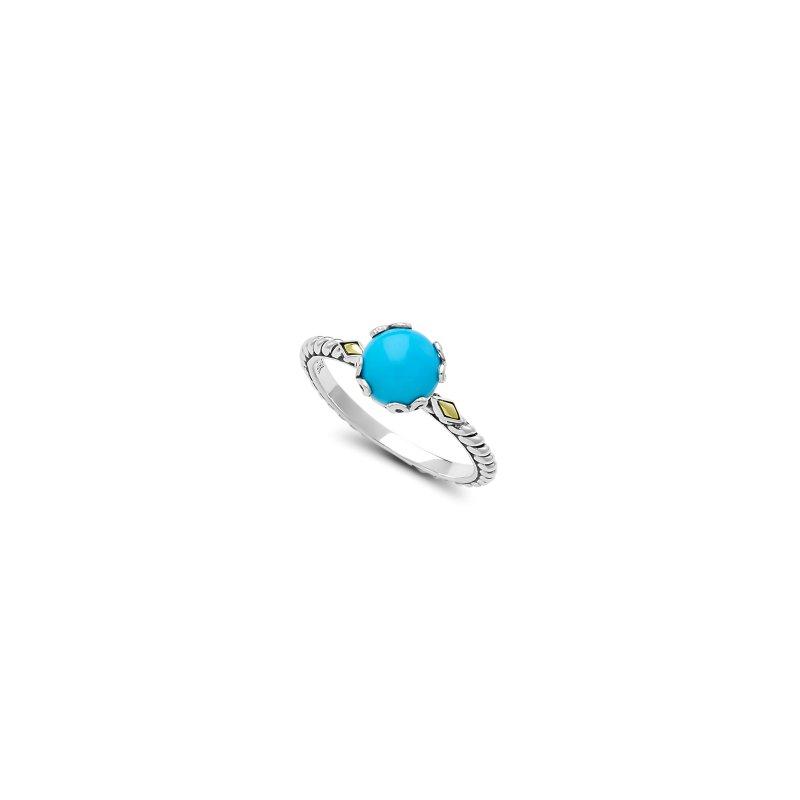 Samuel B. Sleeping Beauty Turquoise Birthstone Ring