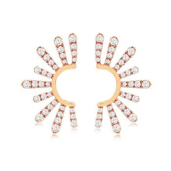Diamond Fashion Sun Burst Earrings