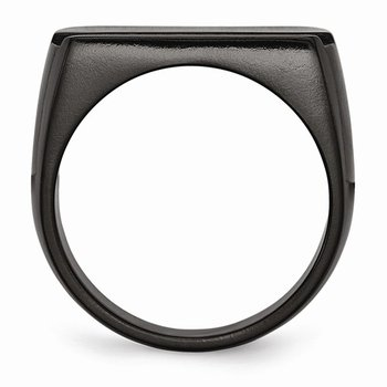 Men's Ring Blue Line Titanium