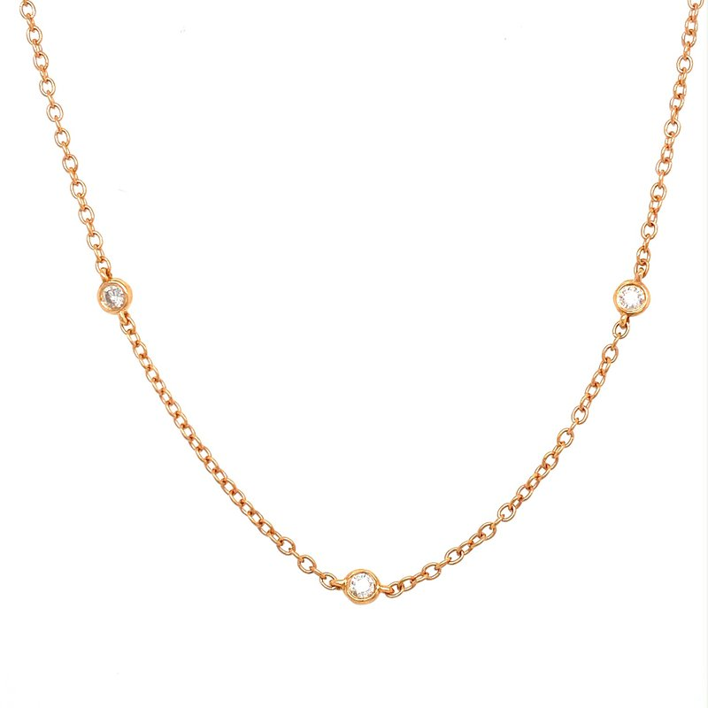Murphy Pitard Signature Collection Diamond-by-the-Yard 1/4 Carat Station Necklace