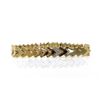 Diamond Chevron Tennis Bracelet