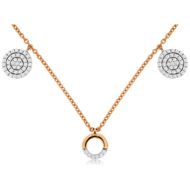 Murphy Pitard Signature Collection Diamond Fashion Circle & Disc Station Necklace