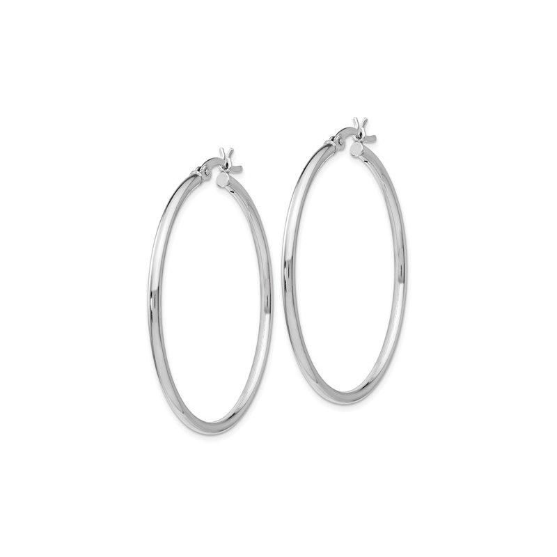 Murphy Pitard Signature Collection Medium 2 Millimeter Polished Hoop Earrings