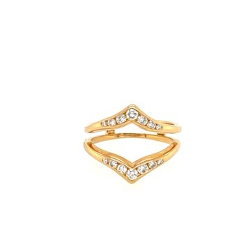 Diamond Channel Polished Ring Enhancer