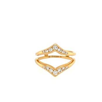 Diamond Channel Polished Ring Enhancer