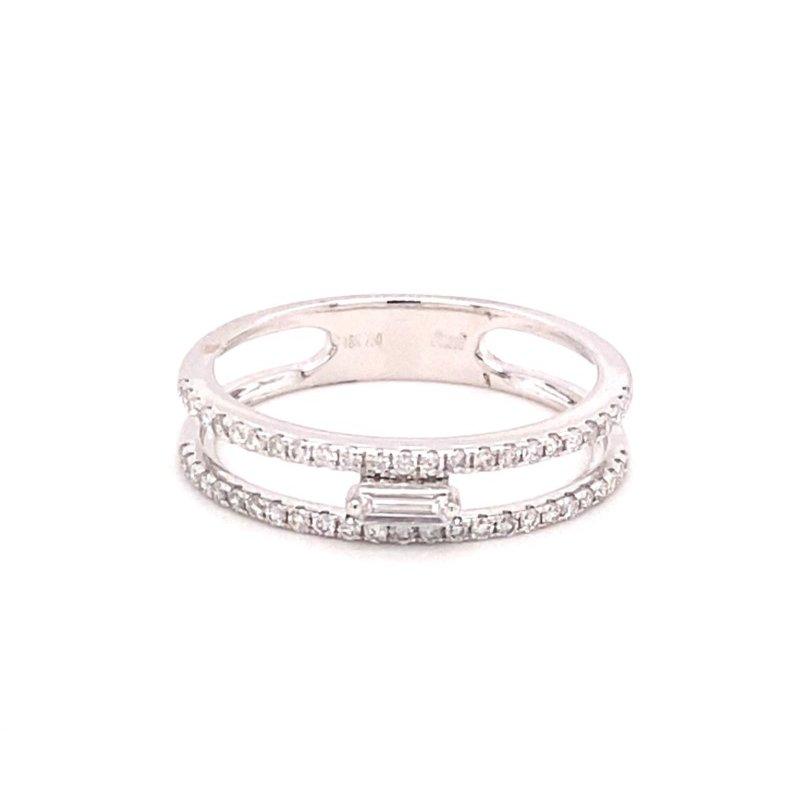 Murphy Pitard Signature Collection Diamond & Baguette Diamond Split Fashion Band