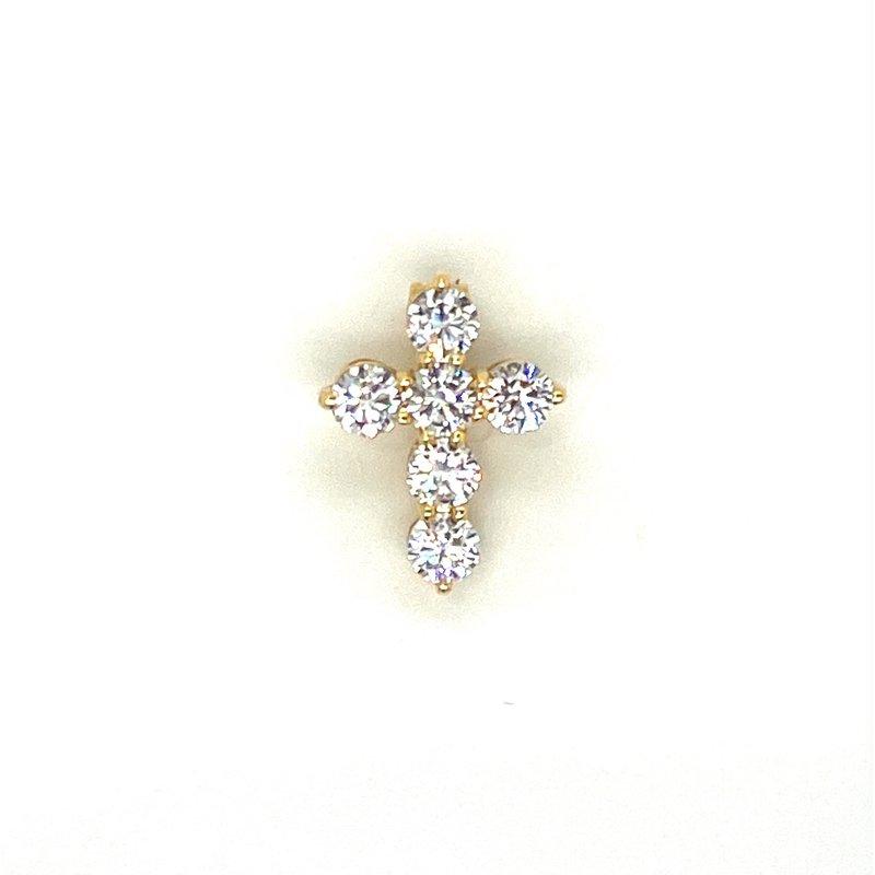 Murphy Pitard Signature Collection Diamond 1/4 Carats Petite Cross