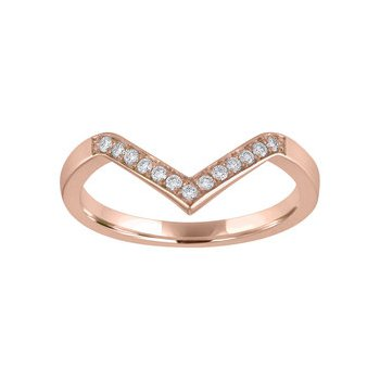 Stackable Diamond Chevron Band