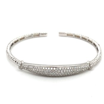 Pavé Diamond Flexible Cuff Bracelet
