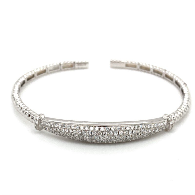 Murphy Pitard Signature Collection Pavé Diamond Flexible Cuff Bracelet