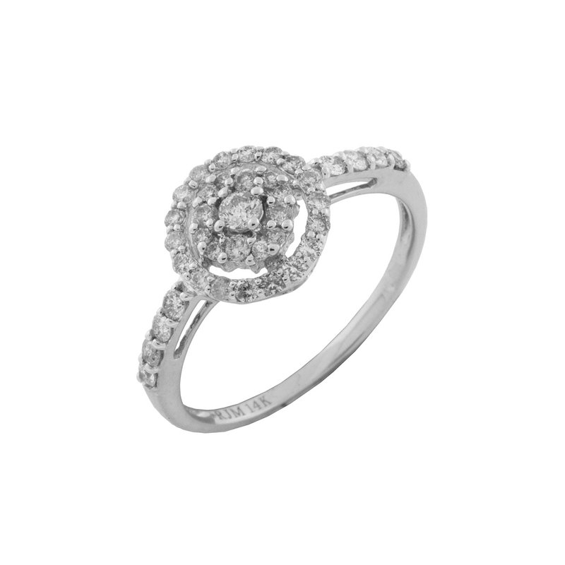 Murphy Pitard Signature Collection Diamond Accented Halo Engagement Ring