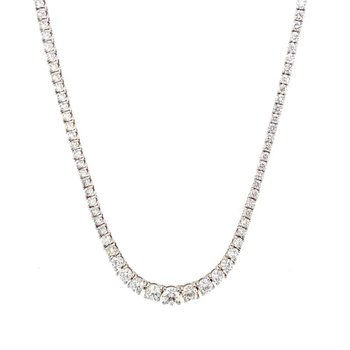 Graduating 7 Carat Diamond Necklace