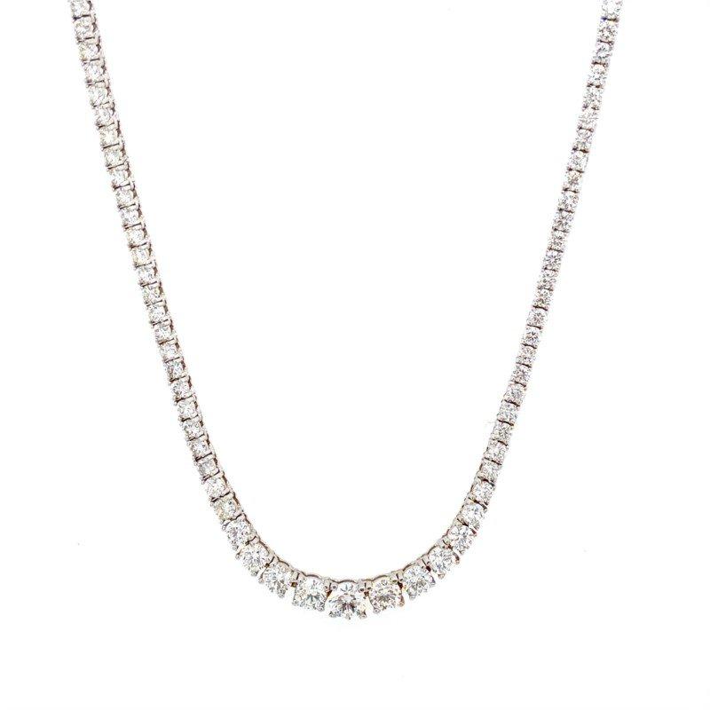 Murphy Pitard Signature Collection Graduating 7 Carat Diamond Necklace