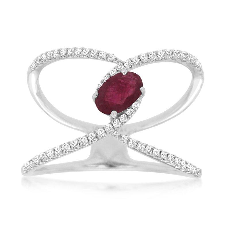 Murphy Pitard Signature Collection Ruby & Diamond Fashion Ring