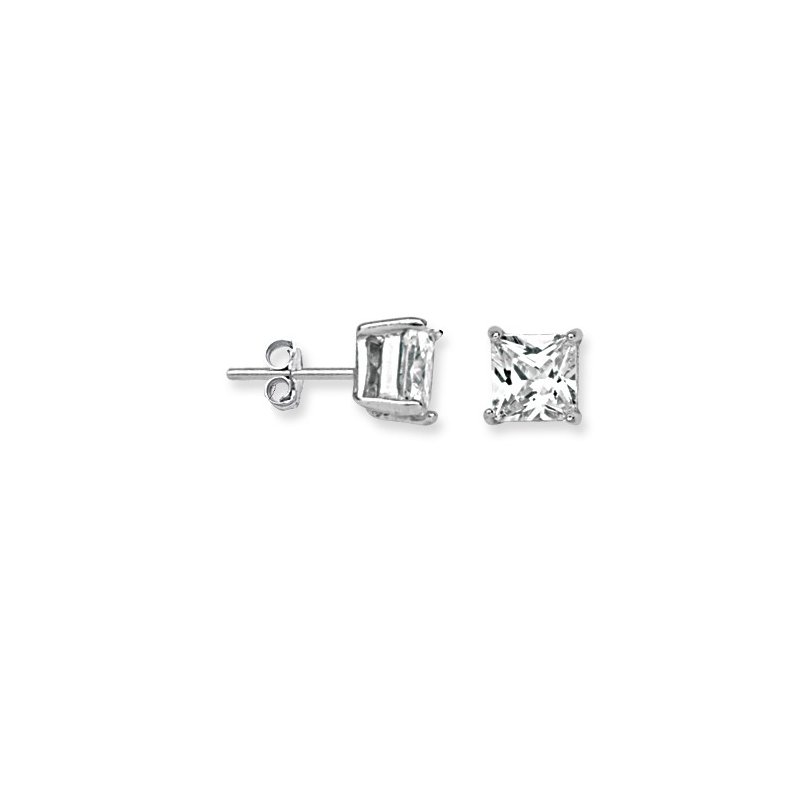 Murphy Pitard Signature Collection Square Cubic Zirconia Stud Earrings