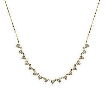 Scalloped Diamond Choker Necklace