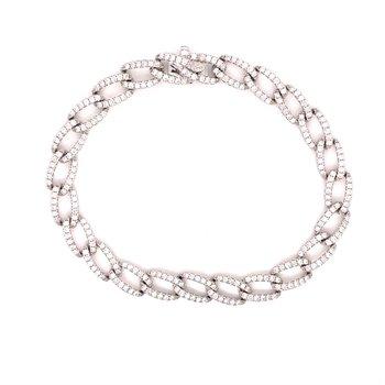 Diamond 2 1/2 Carats Fancy Link Tennis Bracelet
