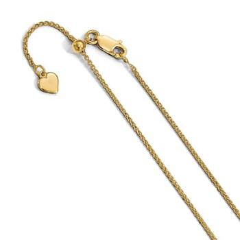 Gold Plated Adjustable Wheat Chain
