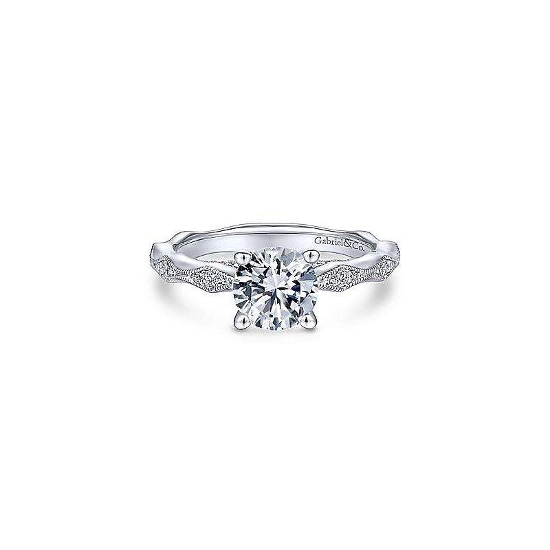 Gabriel & Co. New York Round Diamond Engagement Ring