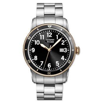 MPJ Stainless Steel 43Millimeter Black Dial & Bezel Sport Watch