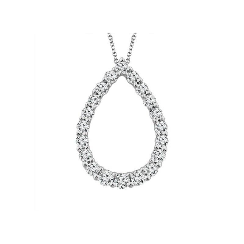 Murphy Pitard Signature Collection Diamond 1/4 Carats Tear Drop Pendant Necklace