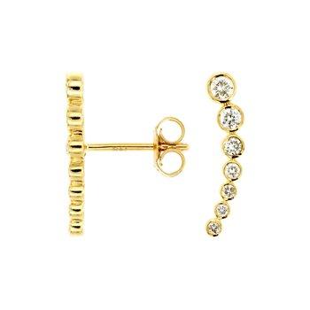 Diamond Climber Bezel Earrings
