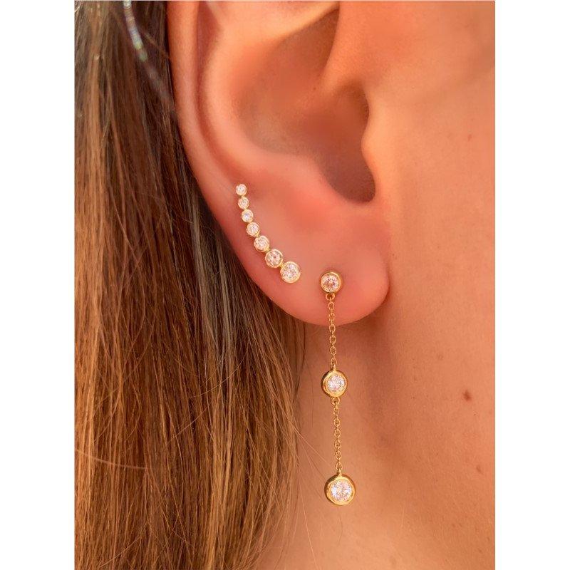 Murphy Pitard Signature Collection Diamond Climber Bezel Earrings