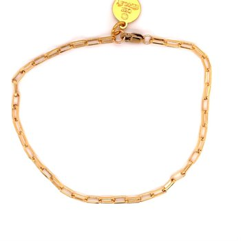 Extra Small Gold-Filled Paperclip Bracelet