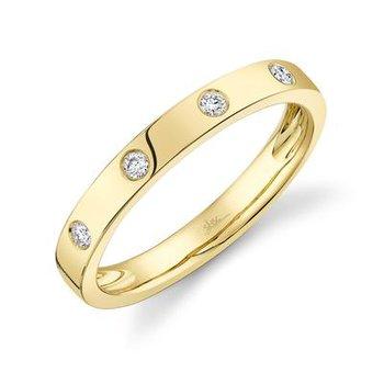 Diamond Stackable Flat Band