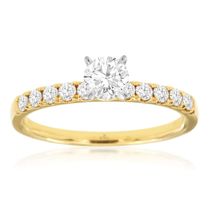 Murphy Pitard Signature Collection Diamond Accented Round Engagement Ring
