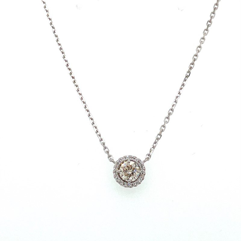 Murphy Pitard Signature Collection Diamond 1/2 CaratHalo Pendant Necklace