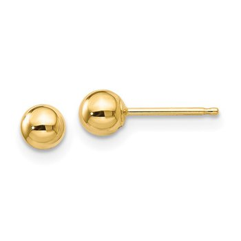 Ball 4 Millimeter Stud Earrings