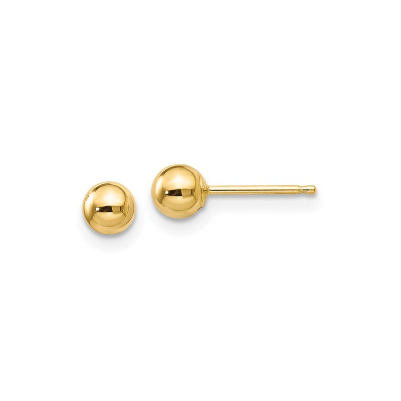 Murphy Pitard Signature Collection Ball 4 Millimeter Stud Earrings