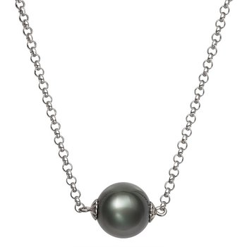 Tahitian Pearl Single Floating Pearl Necklace