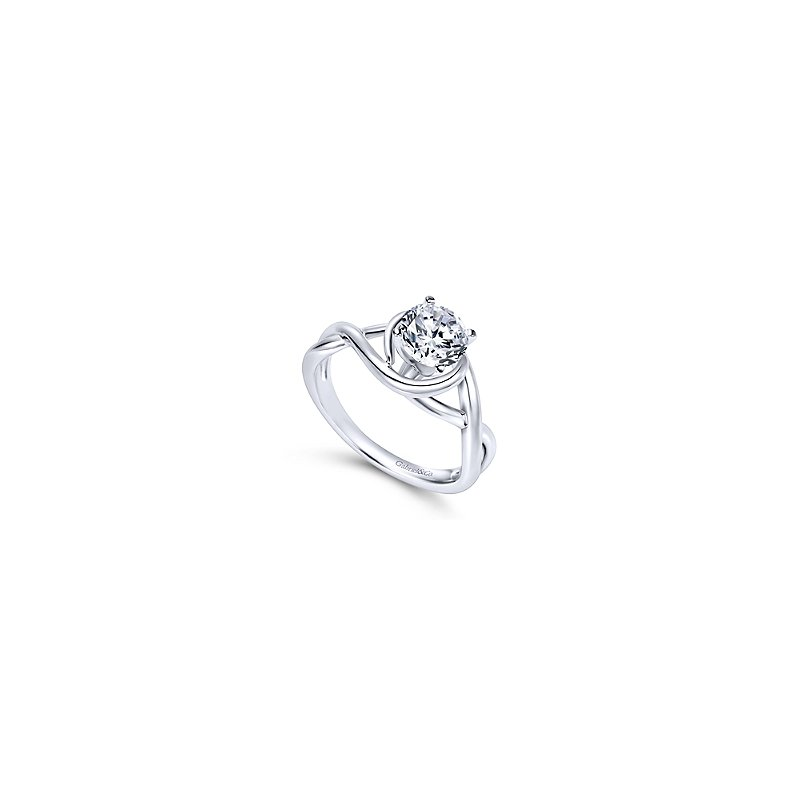 Gabriel & Co. New York Twisted Band Solitaire Engagement Ring