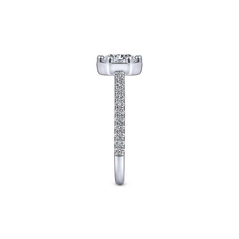 Gabriel & Co. New York Teague Round Diamond Engagement Ring