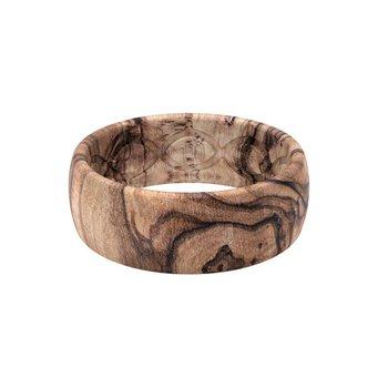 Burled Walnut Silicone Band - Size 14