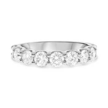 White Diamond 9 Stone 2 Carats Anniversary Band