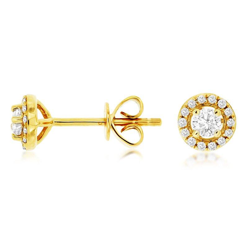 Murphy Pitard Signature Collection Diamond Halo Stud Earrings