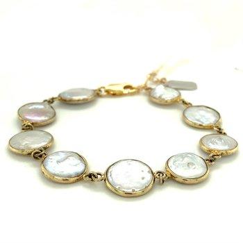 Dayna Bezeled Pearl Bracelet