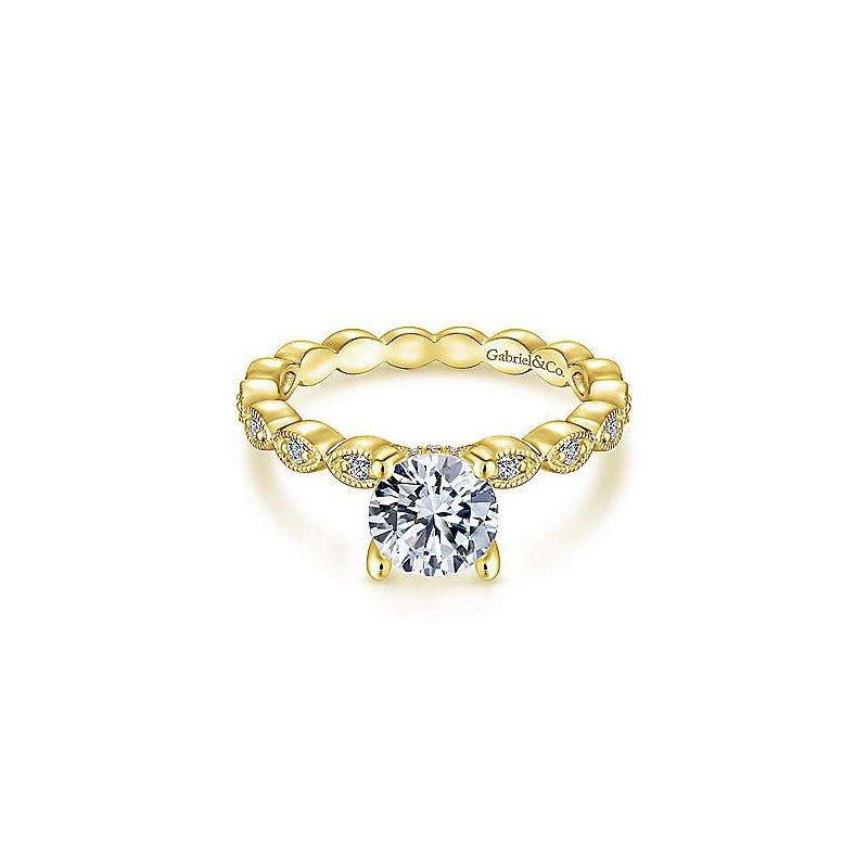 Gabriel & Co. New York Lula Round Diamond Engagement Ring