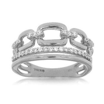 Diamond Split Row Link Fashion Ring