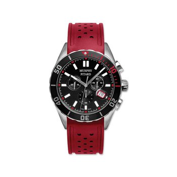 Murphy Pitard Chronograph Watch With Red Strap