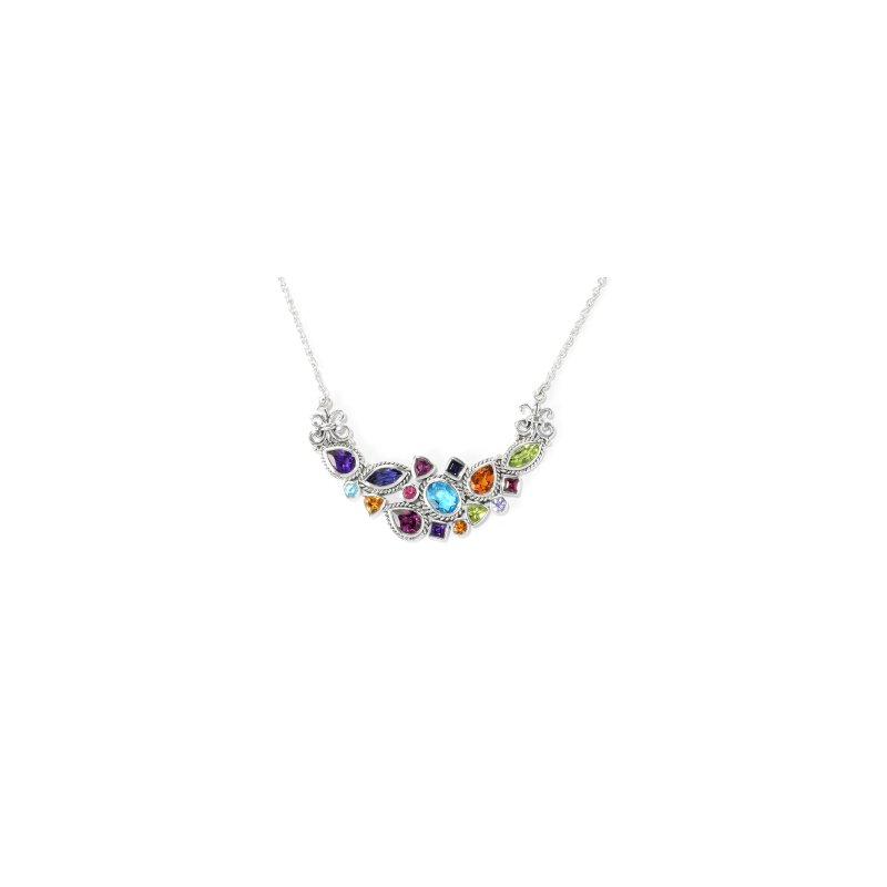 Samuel B. MultiColor & Shape Gemstone Necklace