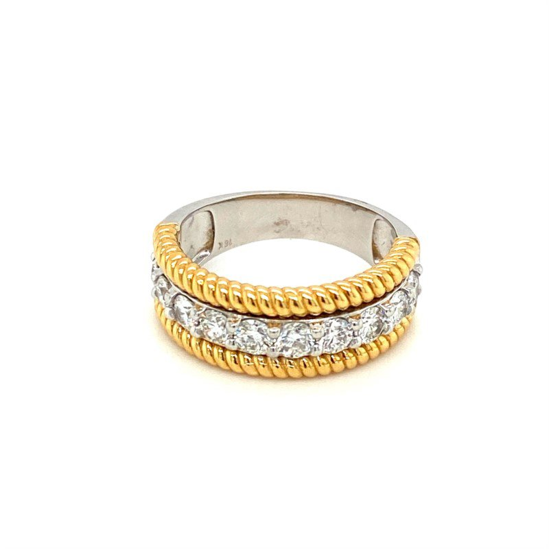 Murphy Pitard Signature Collection Two Tone Diamond Band