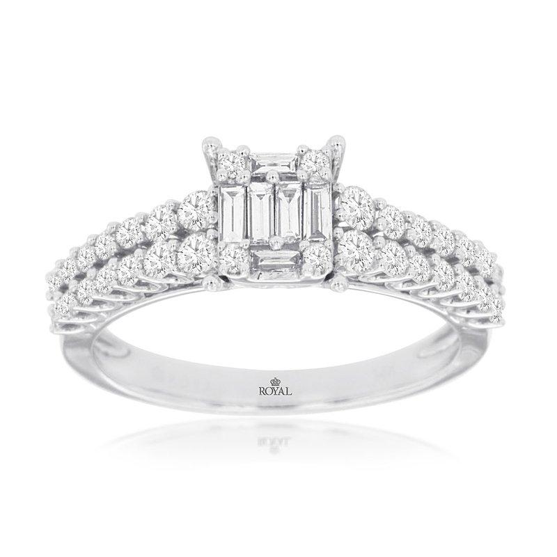 Murphy Pitard Signature Collection Multi-Row Diamond Engagement Ring