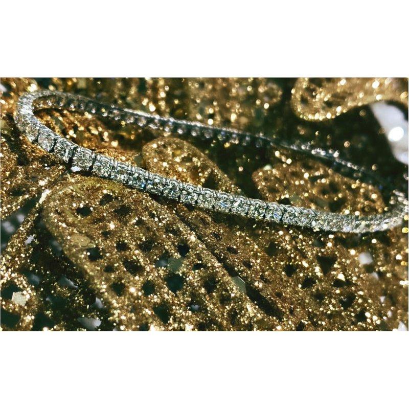 Murphy Pitard Signature Collection Diamond 5 Carats Traditional Tennis Bracelet