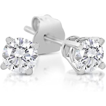 Diamond 1/6 Carats Traditional Stud Earrings